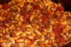 Basic Ground Beef American Goulash - a quick and easy ground beef, macaroni and tomato skillet meal. Stir in 1/2 cup of cubed Velveeta for a cheesy version.
