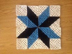 How to Crochet a Multi Color Granny Square Star Afghan (YouTube Video)