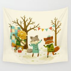 Critters: Spring Dancing Wall Tapestry by Teagan White. Worldwide shipping available at Society6.com. Just one of millions of high quality products available.