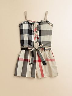 Burberry does it luxe for your little one this summer! #burberry #romper