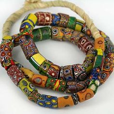 Antique Venetian millefiori beads used in the African trade