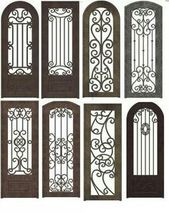 Wrought iron doors are indeed a style from the past. With creativity, you can make your house look more sophisticated with the wrought iron front doors.Top Amazing design ideas of wrought iron doorsThink garden quilt viewed thru one of these gates! Wrought Iron Decor, Wrought Iron Gates, Iron Windows, Iron Doors, Iron Front Door, Buch Design, Window Grill Design, House Doors, Gate Design
