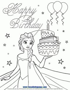 Rosetta Birthday Cake Coloring Pages