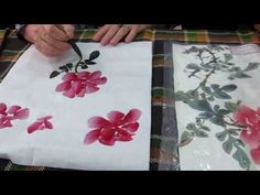MVI 3261南菁書法學會─黃素梅老師示範玫瑰花畫法 - YouTube