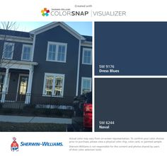 Front exterior door Sherwin Williams Duration Paint Blue front ...