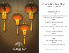 #BuddhaBarBaku #Chinese #new #year #special #menu #pinterest