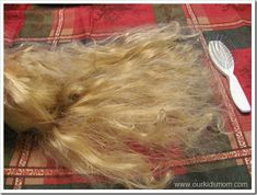 how to fix old doll hair