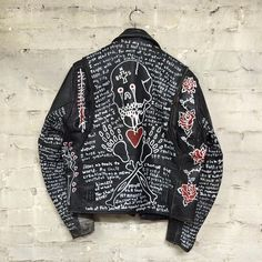 Bill hand-painted motorcycle jacket for @outonbailz Happy birthday, I love you