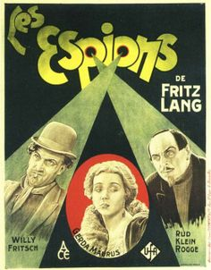"""Poster (foreign), """"Les Espions"""" (Spione / Spies), directed by Fritz Lang, 1928"""