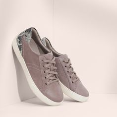 780e6bf429d Dove grey leather and snakeskin accents make the luxe Morrison shoe so much  more than a