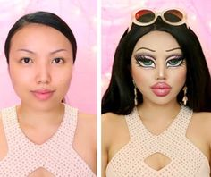 My Bratz Doll Makeup Transformation is posted on my channel 💕 If you are looking for a last min Halloween Costume, this might be it ✨Link in the bio 👆btw Makeup concept inspired by Bratz Doll Halloween Costume, Cat Halloween Makeup, Amazing Halloween Makeup, Most Popular Halloween Costumes, Scary Halloween Costumes, Halloween 2019, Halloween Crafts, Halloween Ideas, Maquillage Halloween Simple