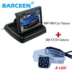"""Higest night vision 8 led car rear view camera use for original car +lcd car monitor 4.3"""" screen for  MAZDA 2 for MAZDA 3"""
