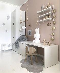 A pretty kid's room - Kinderzimmer Till - Home end Baby Bedroom, Girls Bedroom, Diy Childrens Desks, Girl Desk, Ikea Kids, Kids Room Design, Room Kids, Ikea Toddler Room, Little Girl Rooms