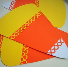 Fancy candy corn paper craft.