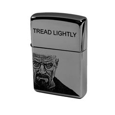 Lighter - Walt Zippo (Engraved by Hip Flask Plus) Tread Lightly Great for Breaking Bad Fans on Etsy, $28.99