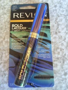 """Revlon Bold Lacquer Mascara in """"Blackest Black"""". Retail $7.99.  Brand new in box.  SELL PRICE: $3."""