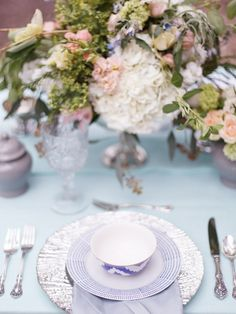 Dreamy Blue and Green Spring Wedding Inspiration Shoot / Brian LaBrada Photography