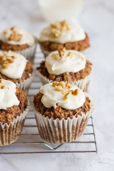 2. Carrot Cupcakes #healthy #dessert #recipes http://greatist.com/eat/dessert-recipes-with-vegetables