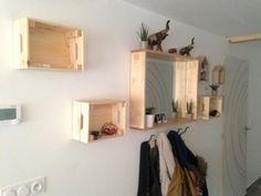 Étagères murales DIY avec les caisses en bois Knagglig IKEA