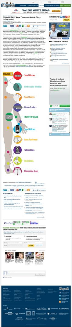 Interactive Infographic - Wearable Technology - More than Google Glass - http://www.minyanville.com/sectors/technology/articles/wearables-wearable-tech-12-Pieces-of/5/21/2013/id/49806#ixzz2U1jNJ9UE?refresh=1)
