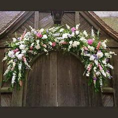 Chirpee Flowers by Steph Willoughby.Wedding floristry in Sussex. Wedding bouquets, flowers and Venue specialist. Church Wedding Flowers, Church Wedding Decorations, Wedding Wreaths, Wedding Bouquets, Floral Decorations, Arco Floral, Floral Arch, Decoration Entree, Floral Arrangements