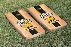 Maryland Baltimore UMBC Retrievers Cornhole Game Set Hardcourt Stripe Version *** Read more reviews of the product by visiting the link on the image.