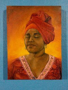 Retrato da Negah óleo sobre tela.
