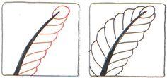 Banana Leaf Zentangle pattern by Suzanne McNeill CZT