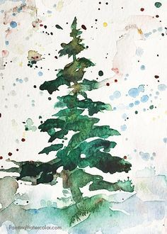 This Christmas card takes less than 5 minutes of painting time. So you have…