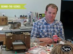 Oh hello! It's @tim_holtz in our #Sizzix art room!