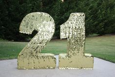 21 Large Number Pinatas. Gold Number Pinatas. Custom Pinata. Any Number Pinata. 21 birthday.  Sweet 16. Quinceanera. $100.00, via Etsy. great for sweets table & photos! Used this vendor many times and i have nothing but good things to say about them.