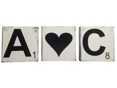 Buchstaben & Schriftzüge - kleine Buchstaben, weiß, holz, Scrabble, Wand - ein Designerstück von unique-STUFF bei DaWanda