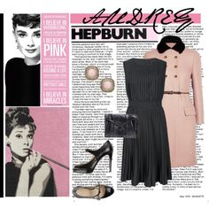 """Audrey Hepburn- I Believe In Pink"" by the-freckled-gypsy on Polyvore"