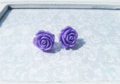 Ohrstecker Purple Rose