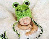 @Laurie Hamilton Marie Crocheted Frog Hat - think someone will make us one?