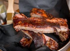Smoque N Bones is a BBQ restaurant situated kitty-corner to Trinity Bellwoods in a storefront formerly home to Gino's Pizza. I visit during the madness o. Cajun Recipes, Italian Recipes, Food Stall, Best Bbq, Time To Eat, Meat Lovers, Fish And Chips, Southern Recipes, Food Plating