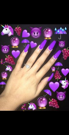 What you need to know about acrylic nails - My Nails Purple Glitter Nails, Purple Acrylic Nails, Blue Nails, My Nails, Purple Nail Designs, Cute Acrylic Nail Designs, Prom Nails, Long Nails, Arylic Nails