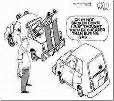 Towing cheaper than buying gas Funny Car Quotes, Funny Jokes, Hilarious, Funny Cars, Fun Quotes, Funny Laugh, Car Jokes, Car Humor, Towing Company