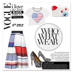 huv by sunshine-189 on Polyvore featuring polyvore fashion style Billabong Milly Michael Kors Walter Van Beirendonck Essie Who What Wear clothing redwhiteandblue july4th