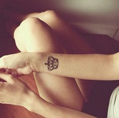 #crown #tattoo on wrist. It could go above the wrist tattoo I have now. Hmmmm?
