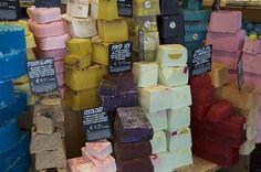Soap display in Venice, Italy