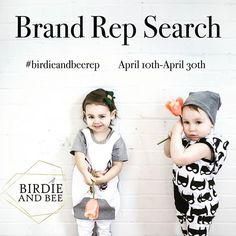 This week is a week of Firsts! Our First Birthday and now our First Brand Rep search! . . We are looking for enthusiastic reps that are interested in promoting and expanding our brand! Please read the details below and only enter if you are willing to fulfill the requirements.  . . Looking for boys and girls age NB-6 years old.  Follow @birdieandbeeboutique  Tag friends and family that might be interested in this opportunity!  Repost and use #birdieandbeerep with a short intro of your little…