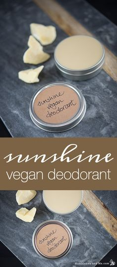 This lovely sunshine vegan deodorant is creamy, smells like sunshine, and kicks stink's butt like nobody's business. It's pretty cool. It's also easy to make and delightfully inexpensive. I've… Daha fazlası Baking Soda Deodorant, Vegan Deodorant, Deodorant Recipes, Diy Natural Deodorant, Homemade Deodorant, Diy Cosmetic, Vegan Soap, Homemade Beauty Products, Vegan Products