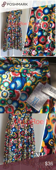 Colorful LuLaRoe Azure Skirt/top! Cute and Colorful LuLaRoe Azure that can be worn as a skirt or top! Pair with leggings in winter or with sandals in summer. So many awesome ways to wear this fun Azure! ✨ NEW with tags ✨ Size XL LuLaRoe Skirts