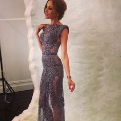 Rebecca Judd in J'aton Couture. My maid of honor would be stunning in this.