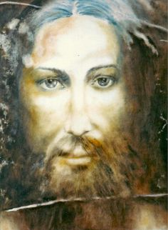 Image of Christ by painter Henryk Gorecki of Poland.