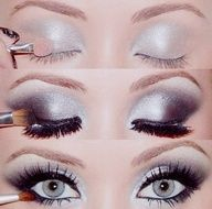 Pretty, seemingly simple smoky eye. I'll have to see if I have a light silver eye shadow