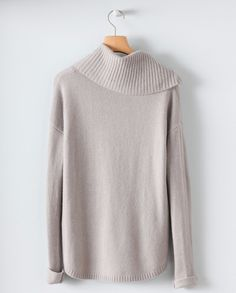 Image of Funnel Neck Cashmere Sweater