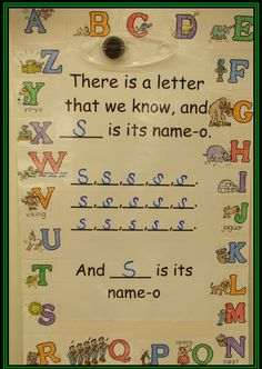 TEACH YOUR CHILD TO READ - Letter sound song to the tune of Old McDonald - like that you can sing it with the sounds too for the letter Super Effective Program Teaches Children Of All Ages To Read. Kindergarten Songs, Preschool Songs, Preschool Letters, Kindergarten Literacy, Alphabet Activities, Preschool Classroom, Preschool Learning, Reading Activities, Literacy Activities