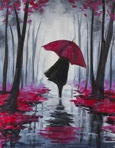 Autumn Stroll  Check out our favorite #trendingpaintings for November #PaintNite